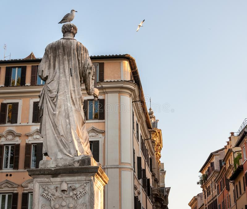 Statue St. Angelo in Rom Italien lizenzfreies stockfoto