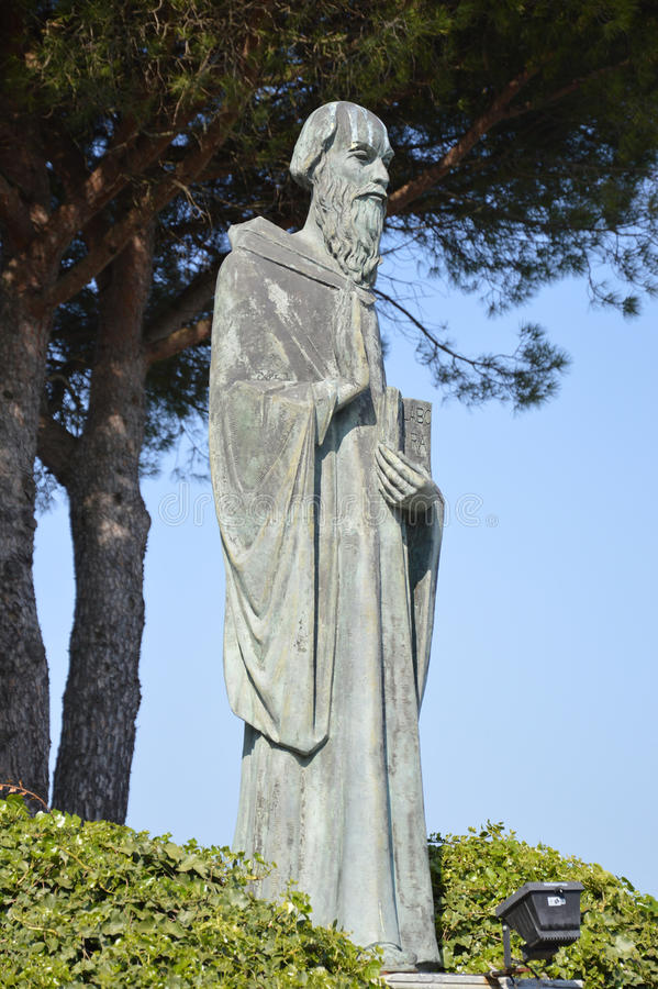 Statue of St Benedict royalty free stock photos