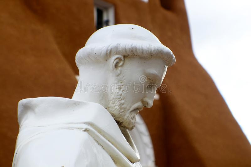 Statue of St. Francis of Asisi in Taos New Mexico stock photo