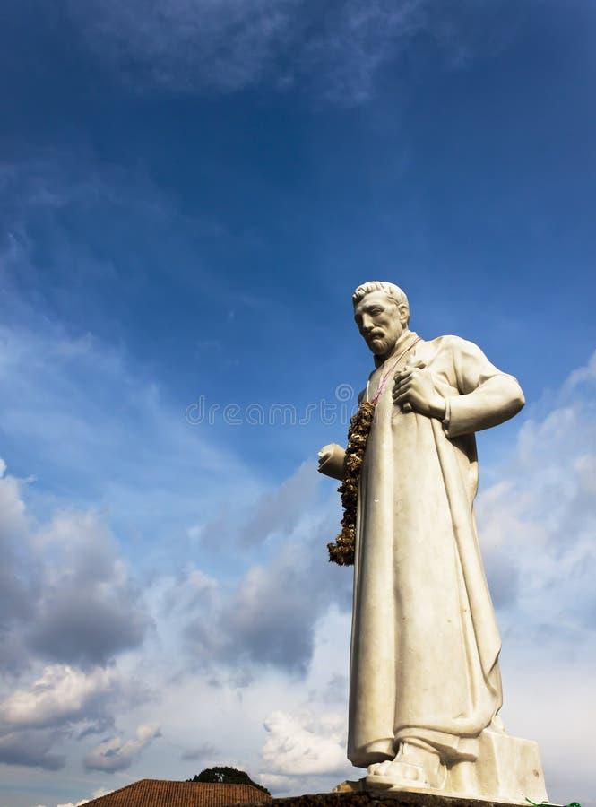 Statue St Francis Xavier, Malakka stockfotografie