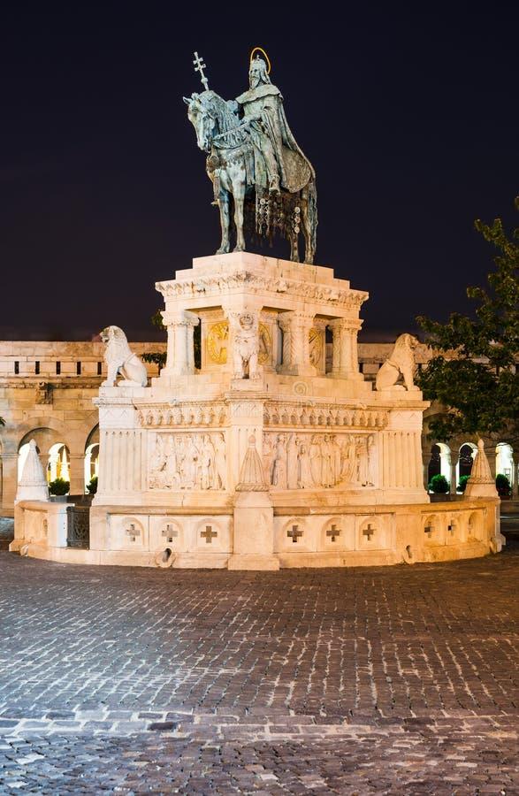 Statue of St Istvan, Budapest royalty free stock photo