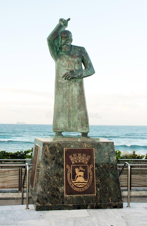 Statue of St. John, San Juan, Puerto Rico stock photos