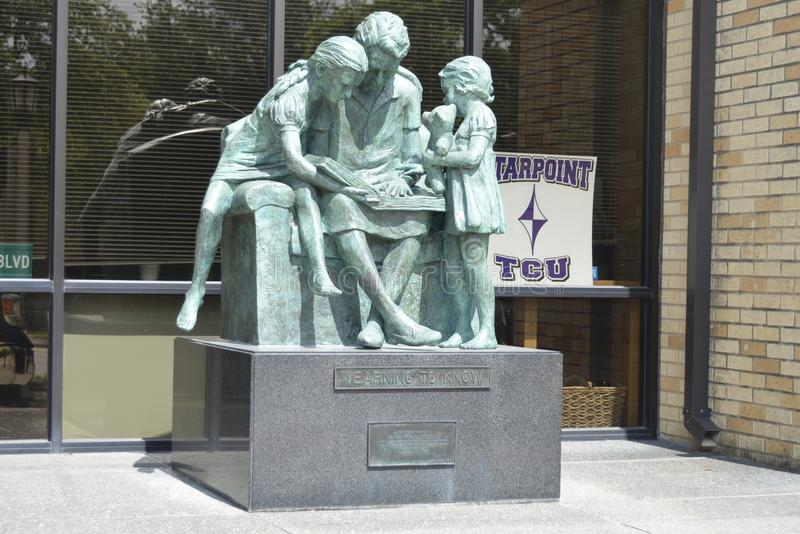 Statue at the Starpoint School at TCU, Fort Worth, Texas royalty free stock images