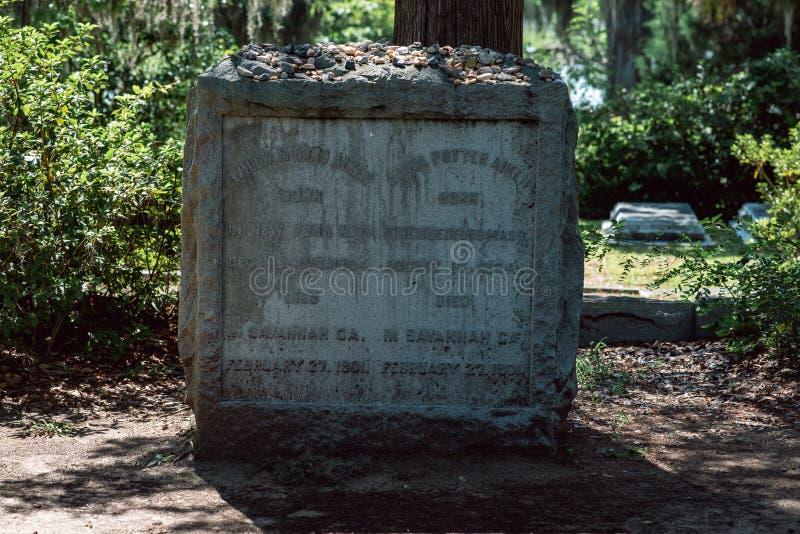 Statue statuaire Bonaventure Cemetery Savannah Georgia de cimetière d'Aiken images libres de droits