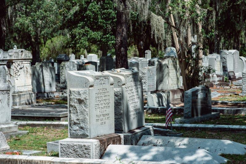 Statue statuaire Bonaventure Cemetery Savannah Georgia de cimetière juif images stock