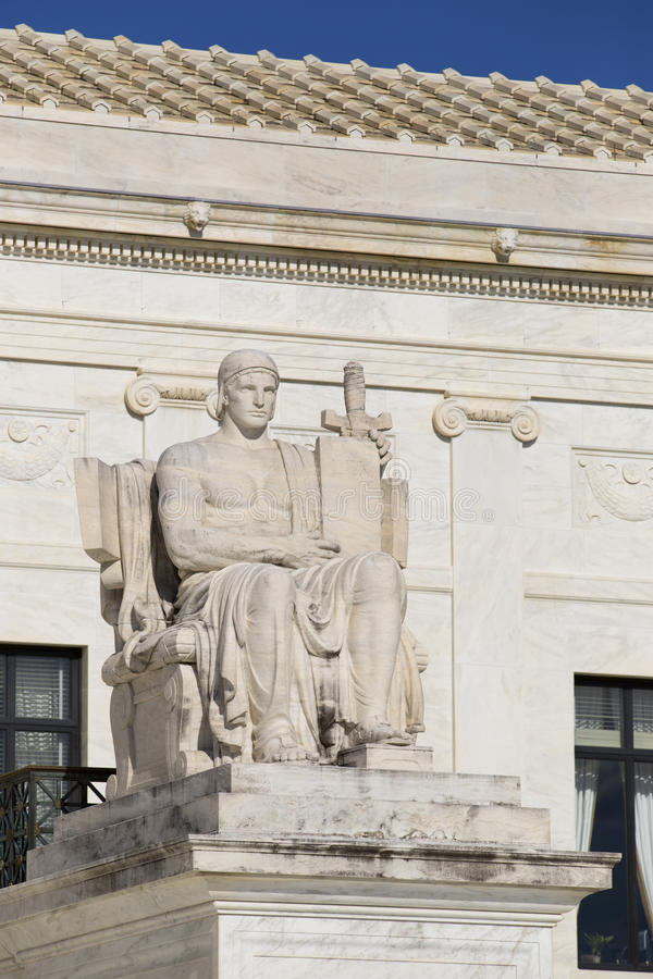 Statue at Supreme Court royalty free stock photography