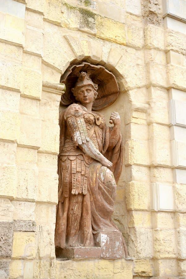 Statue symbolisant la bravoure photo stock