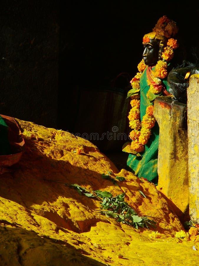 Statue in Temple stock photo
