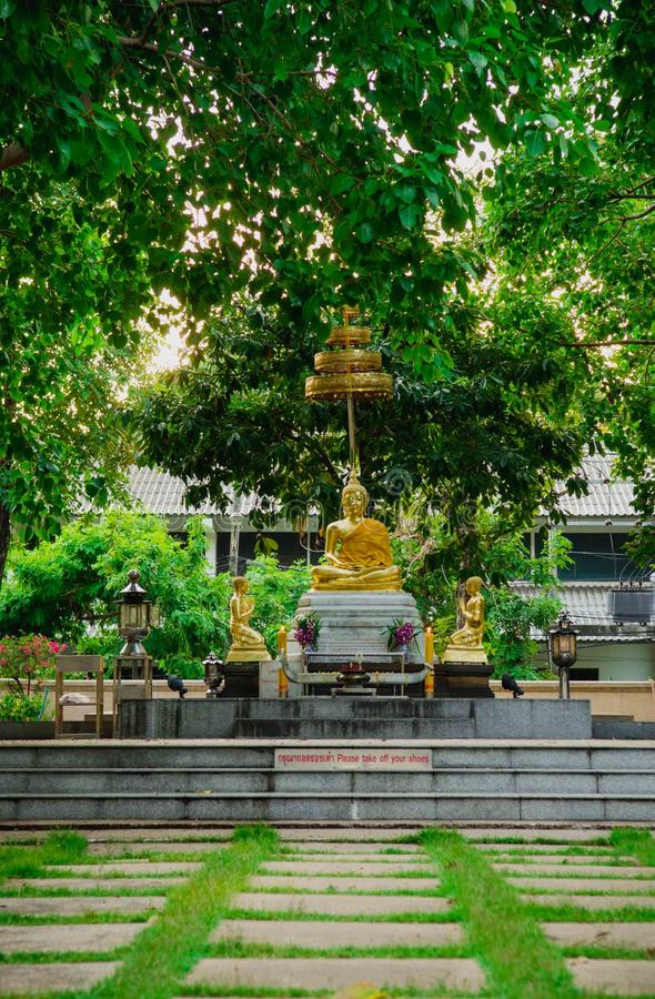 Statue thaïlandaise de Bouddha image libre de droits