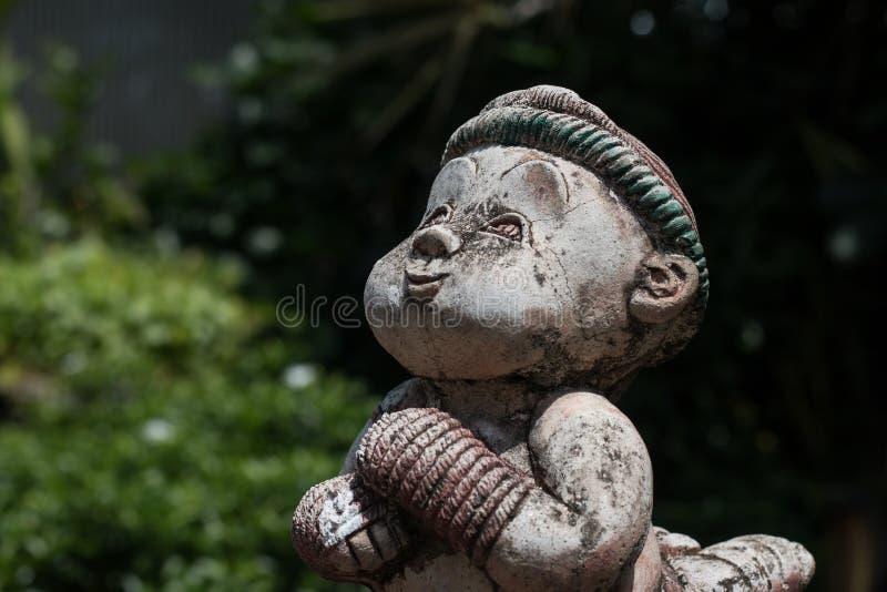 Statue thaïlandaise de boxe en Wat Chai Mongkon - temple bouddhiste, Chian images stock