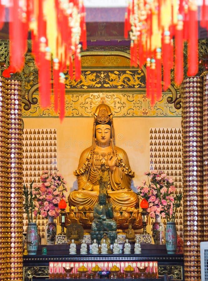 Statue Thean Hou im Tempel in Kuala Lumpur lizenzfreie stockfotografie