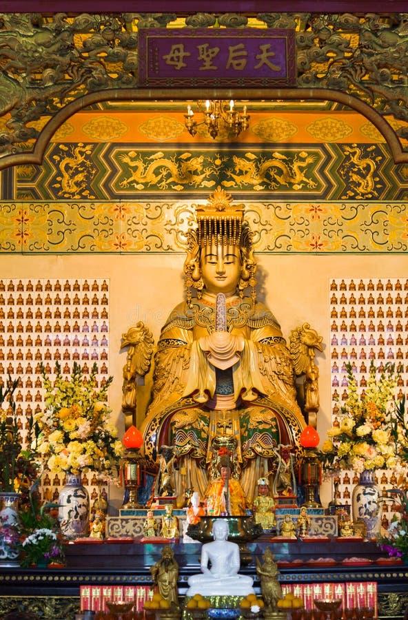 Statue Thean Hou im Tempel in Kuala Lumpur lizenzfreie stockfotos