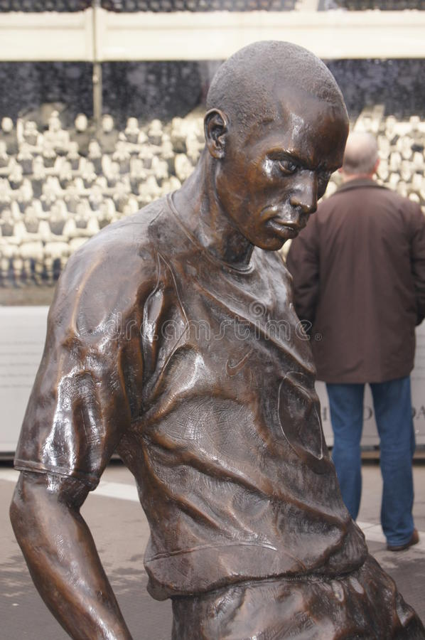 Statue Of Thierry Henry, Arsenal Legend. Bronze statue of French football player Thierry Henry, Arsenal Football Club legend, unveiled outside Emirates Stadium royalty free stock photo