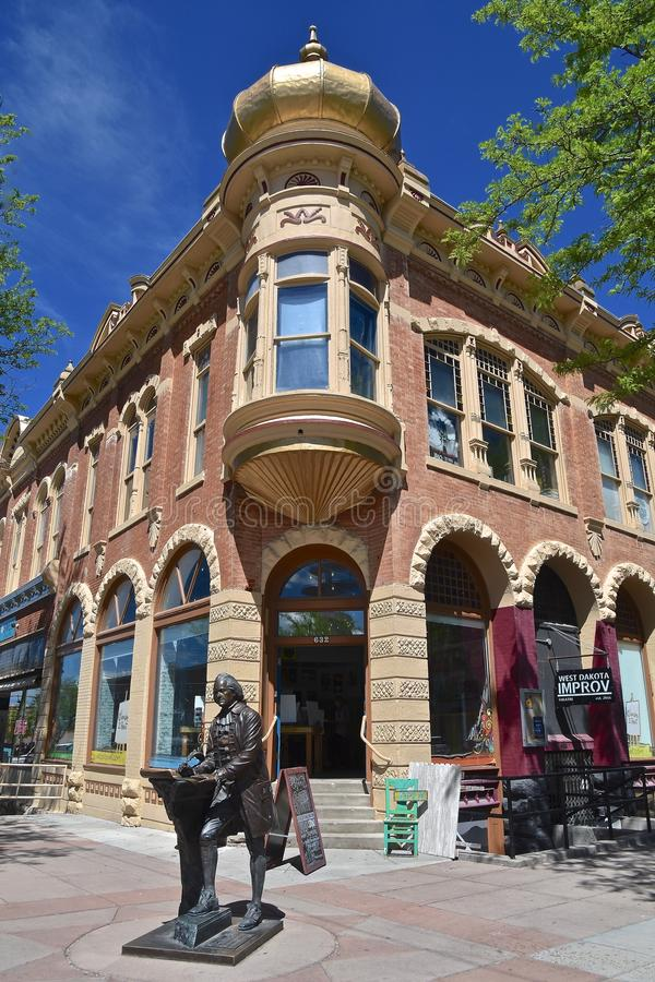 Statue of Thomas Jefferson downtown Rapid City royalty free stock photos