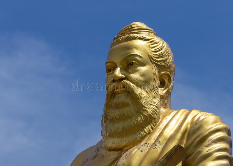 Statue of Tiruvalluvar in Vellore, India. Statue of Tiruvalluvar, great Tamil writer who lived around the start of our era, as seen in Vellore, Tamil Nadu royalty free stock photography