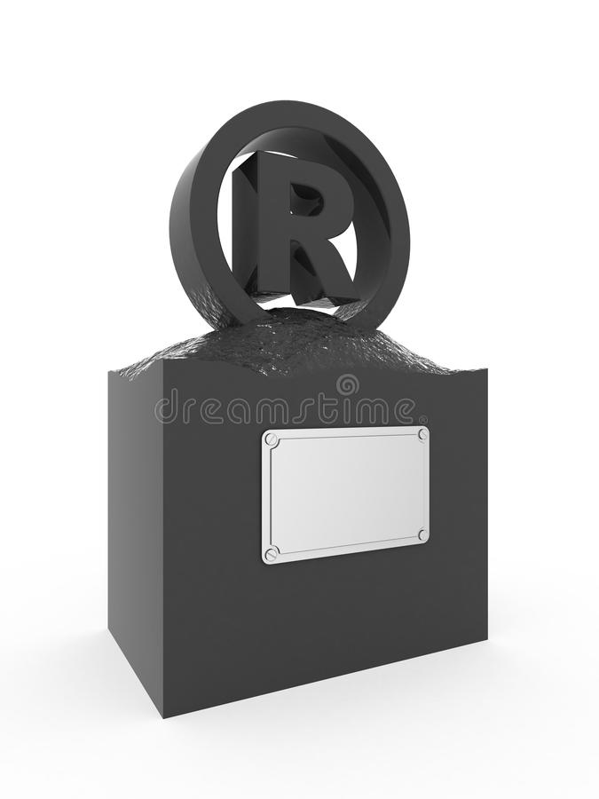 Download Statue of trademark. stock illustration. Image of sign - 5092333