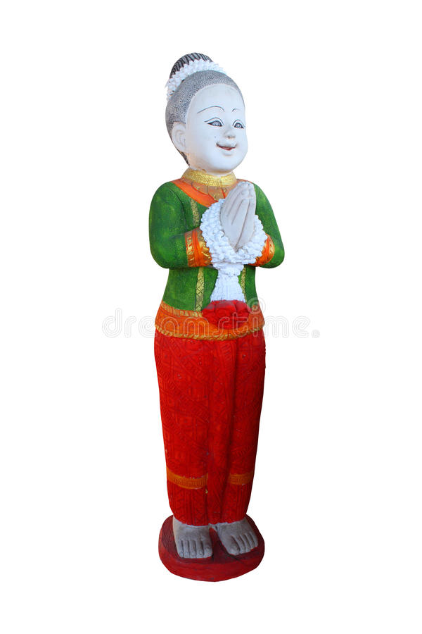 Download Statue Traditional Thai Greeting Royalty Free Stock Photo - Image: 20807775