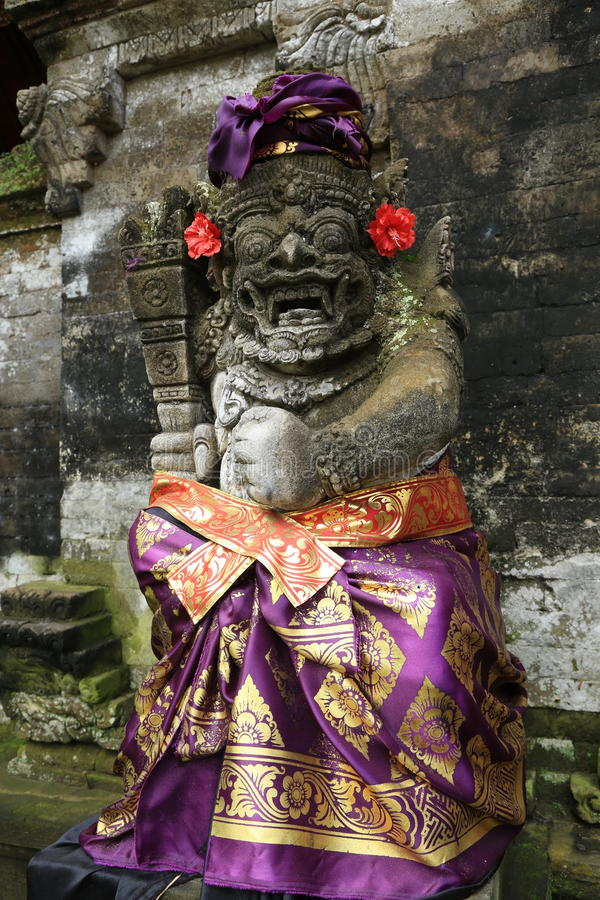 Statue traditionnelle de Bali photographie stock