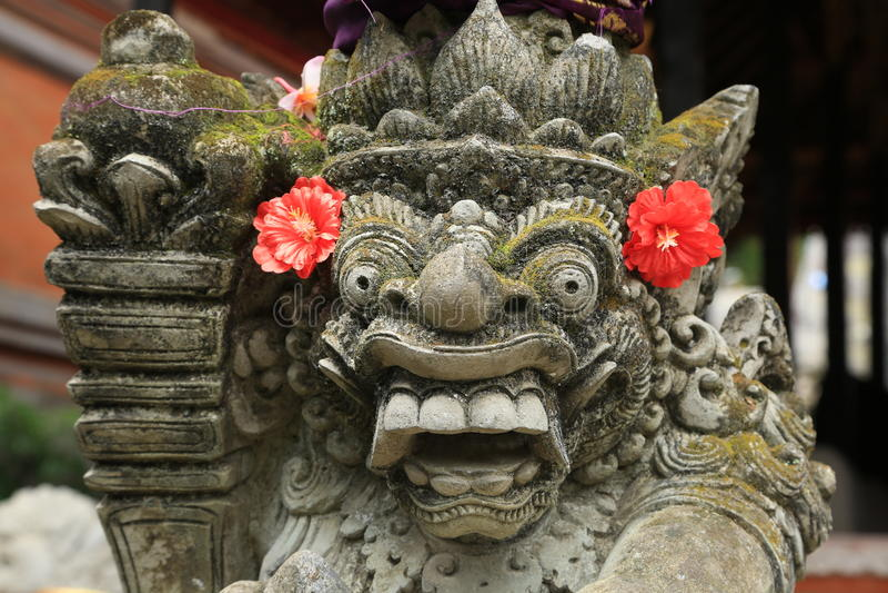 Statue traditionnelle de Bali image libre de droits