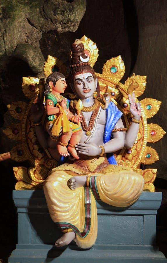 Statue tradizionali di Dio indù in caverna di Batu, Kuala Lumpur, Malesia fotografia stock libera da diritti