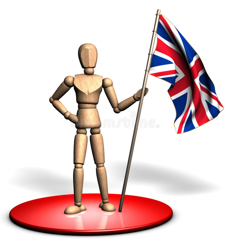 Statue of UK flag