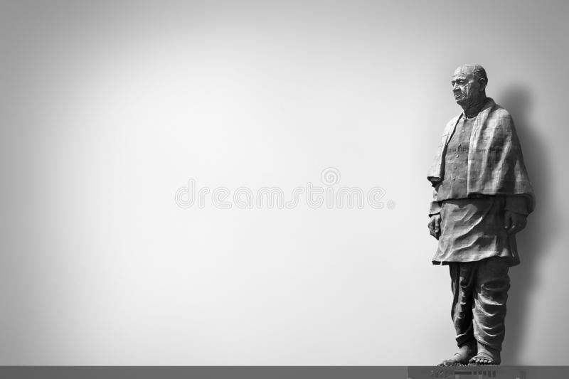 The Statue of Unity is a colossal statue of Indian statesman stock photography