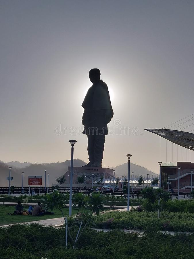 Statue of unity stock images