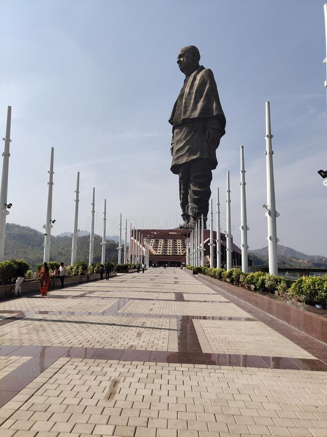Statue of unity stock photography