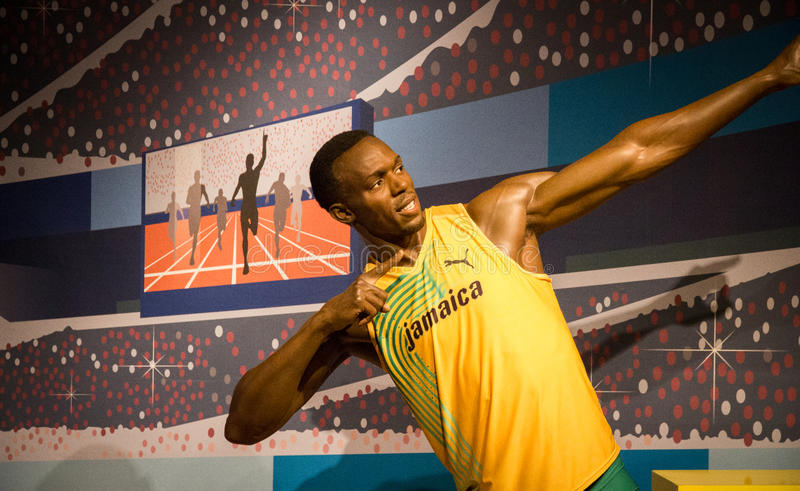 Statue of Usain Bolt royalty free stock photography