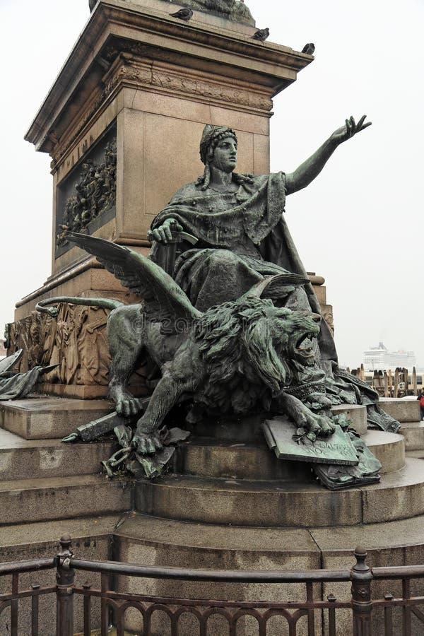 Statue in Venedig lizenzfreie stockfotografie