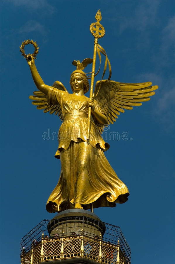 Statue Of Victory in Berlin stock image