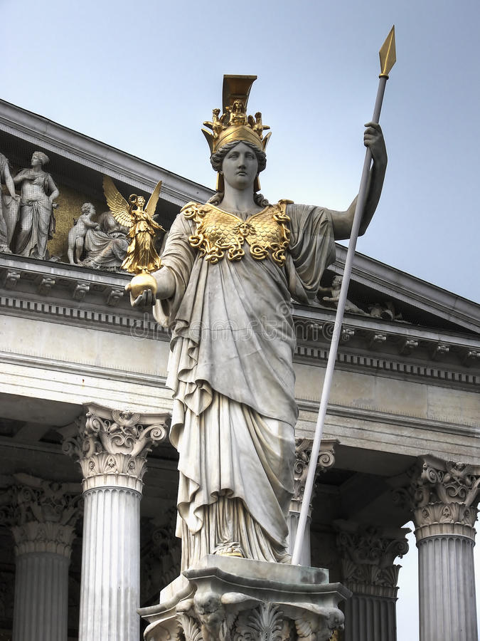 statue Vienne de hdr d'Athéna images stock