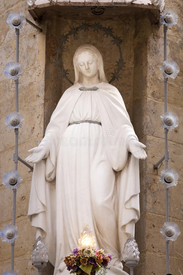 Statue of Virgin Mary stock images