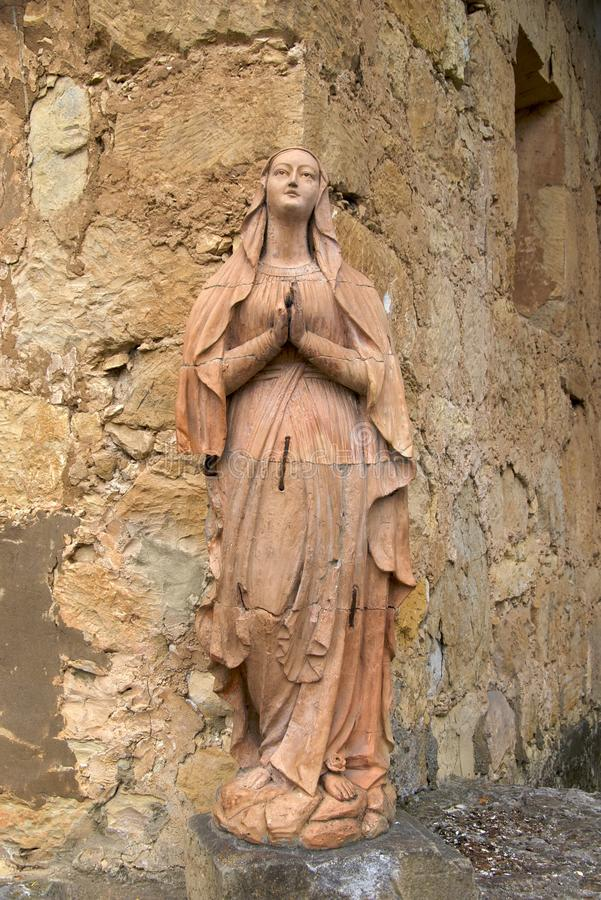 Download Statue Of The Virgin Mary, Carmel Mission Stock Image - Image: 12887491