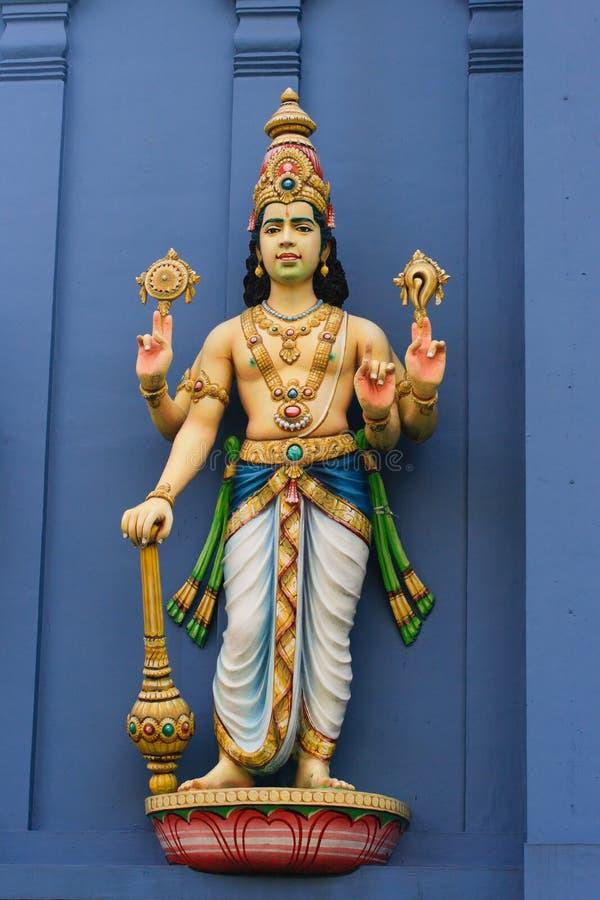 Statue of Vishnu on Hindu tem royalty free stock photography