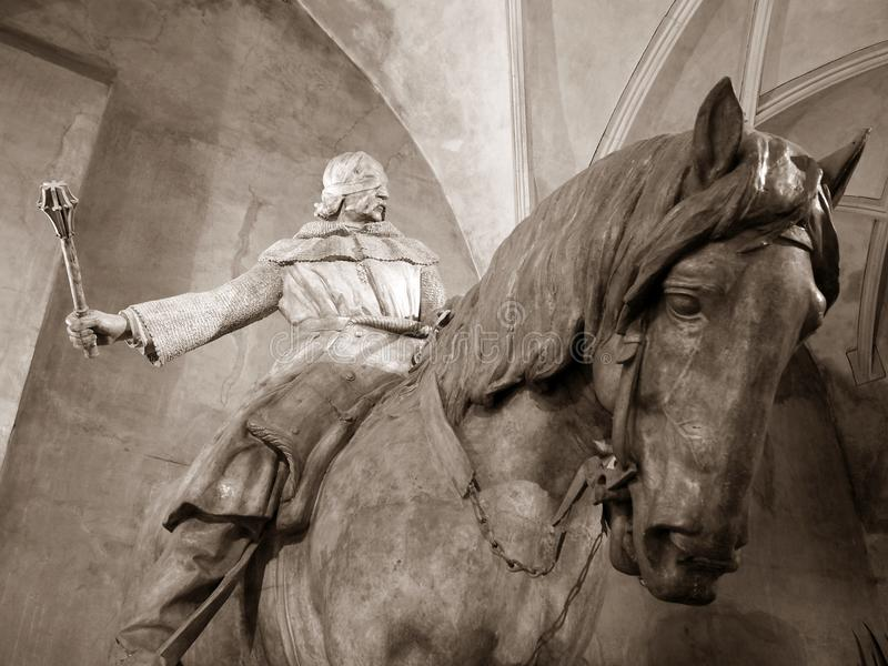 Statue von ½ Jan.s Å iÅ ¾ Ka lizenzfreie stockfotos