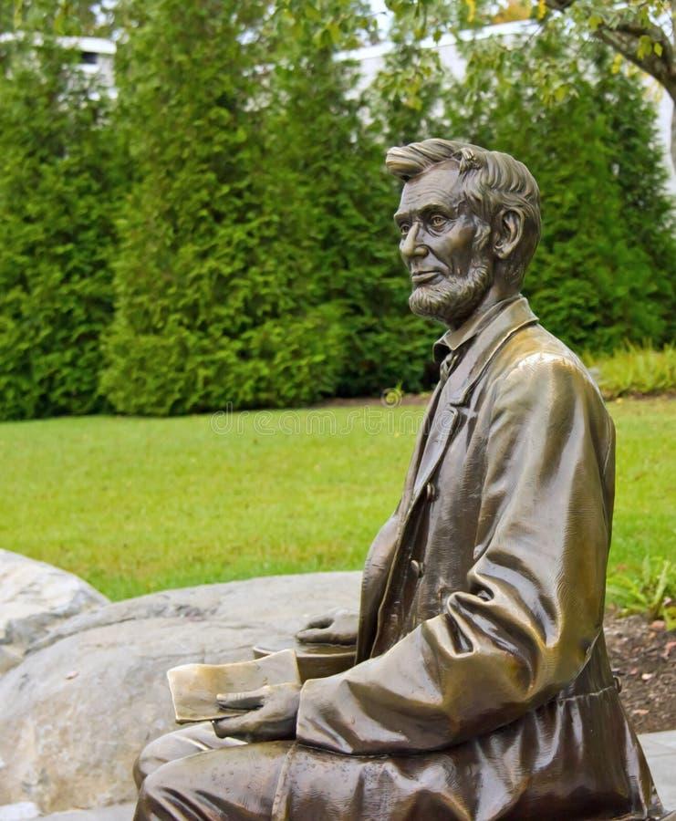 Statue von Abraham Lincoln in Gettysburg stockfotografie
