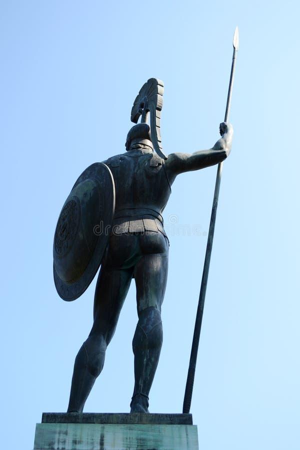 Statue von Achilles stockbilder