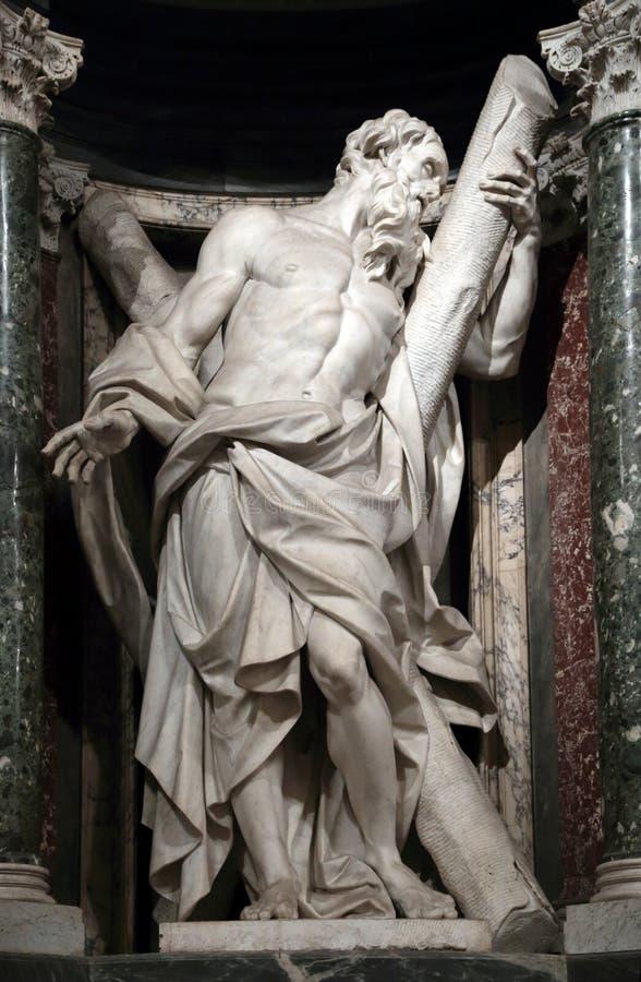Statue von Andrew der Apostel stockfotos
