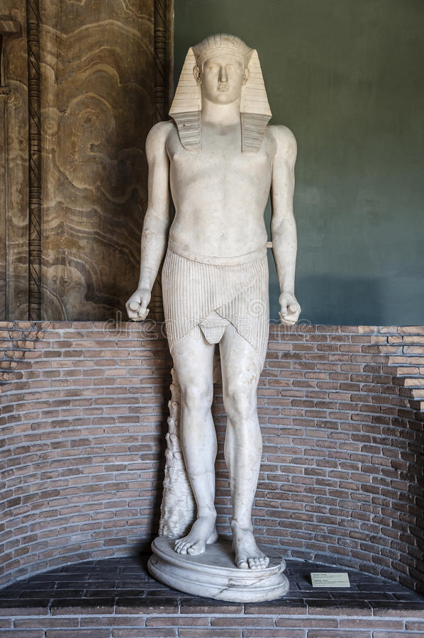 Statue von Antinous als Osiris stockfoto