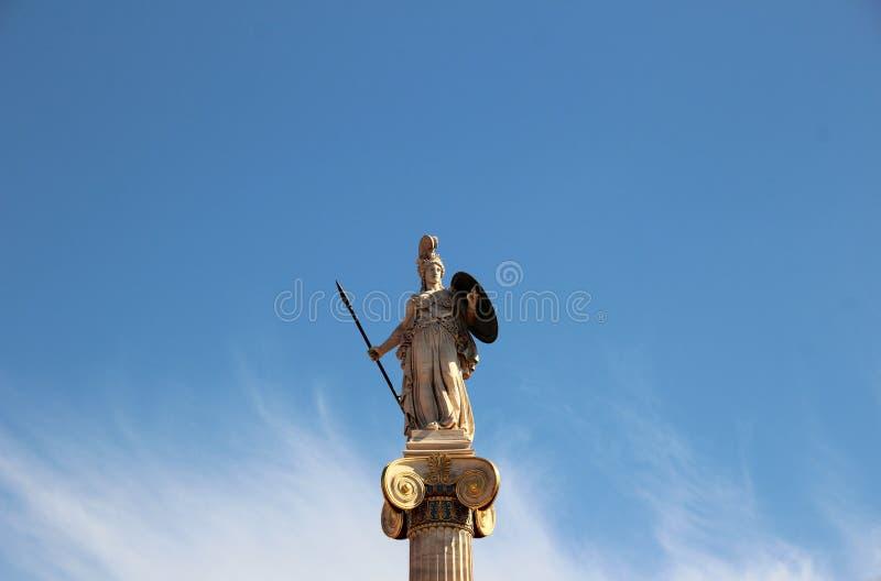 Statue von Athene lizenzfreie stockfotografie
