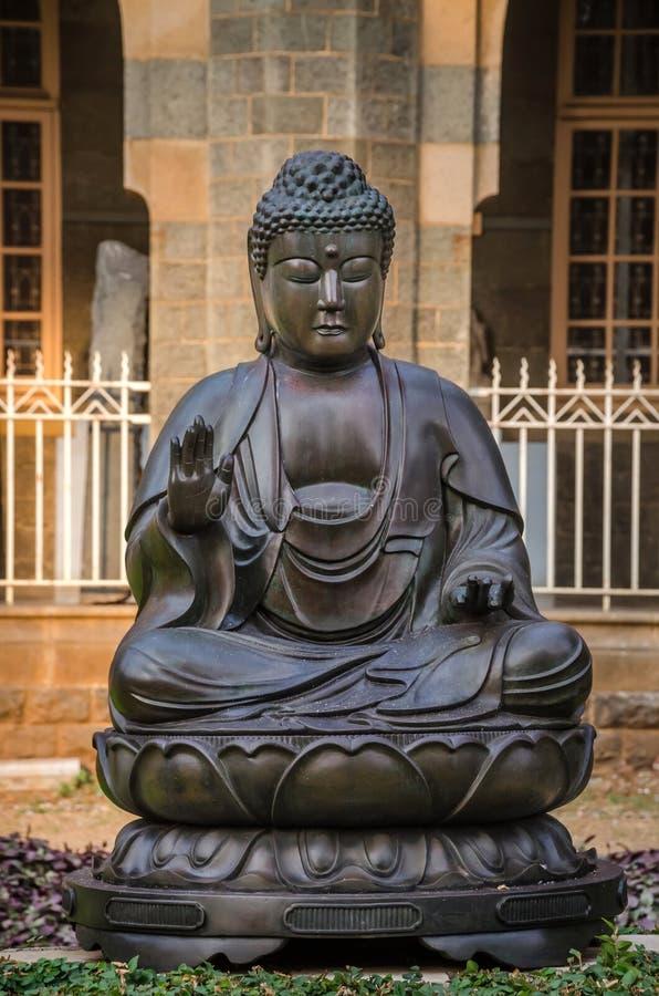 Statue von Buddhas im Prinzen von Wales-Museum, Mumbai, Indien lizenzfreies stockfoto