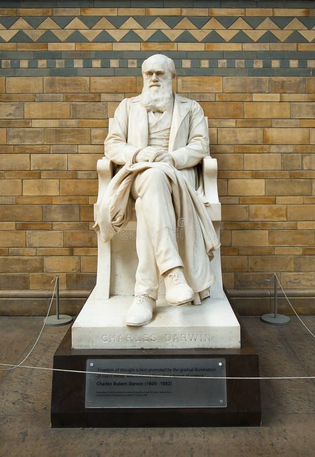 Statue von Charles Darwin lizenzfreie stockfotos
