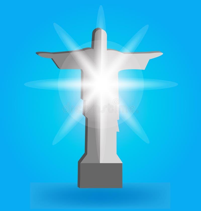 Statue von Christ lizenzfreie abbildung
