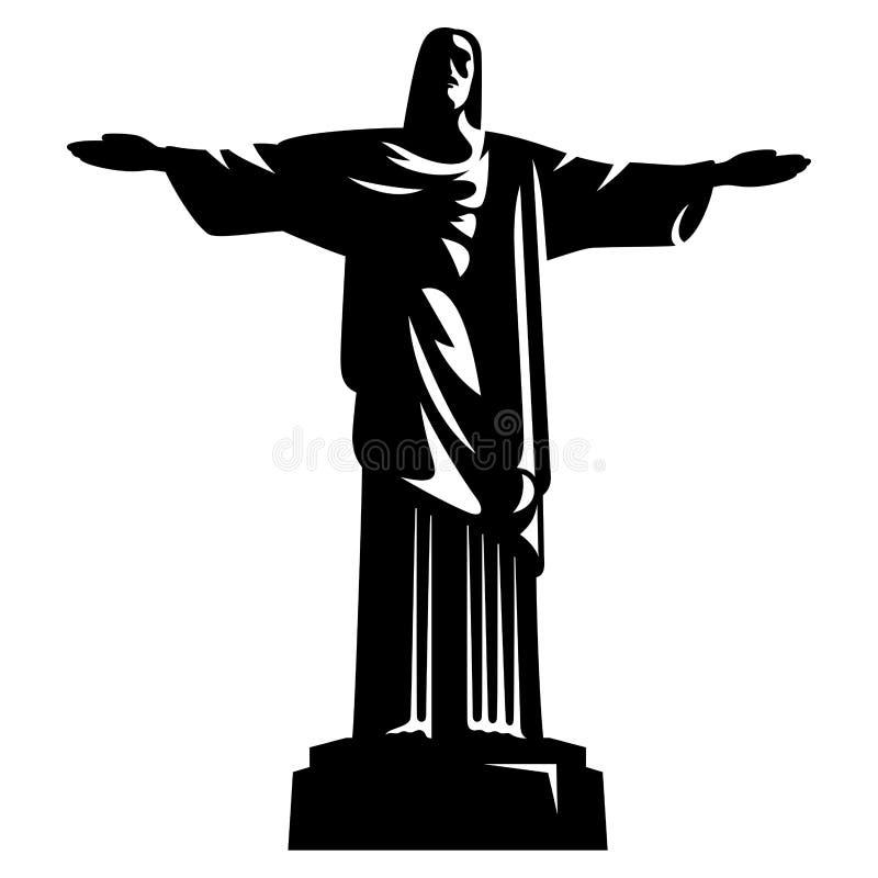 Statue von Christ der Redeemer lizenzfreie abbildung