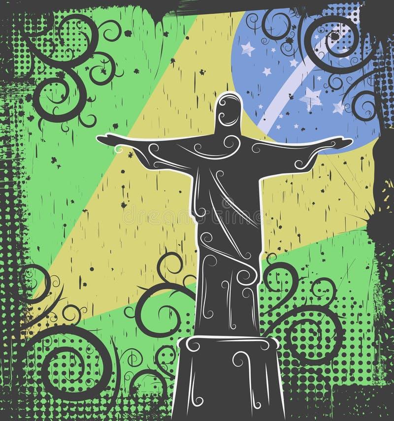 Statue von Christ der Redeemerhintergrund lizenzfreie abbildung