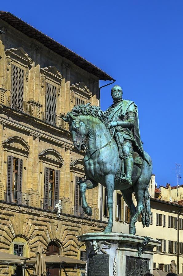 Statue von Cosimo I, Florenz, Italien stockbilder