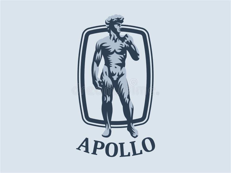 Statue von David oder von Apollo lizenzfreie abbildung