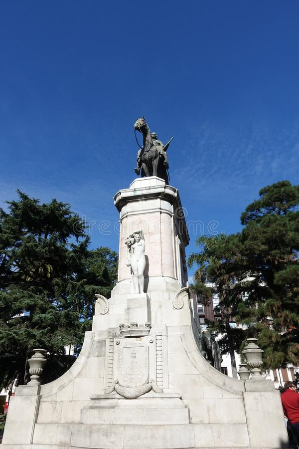 Statue von General De Zabala stockfotos