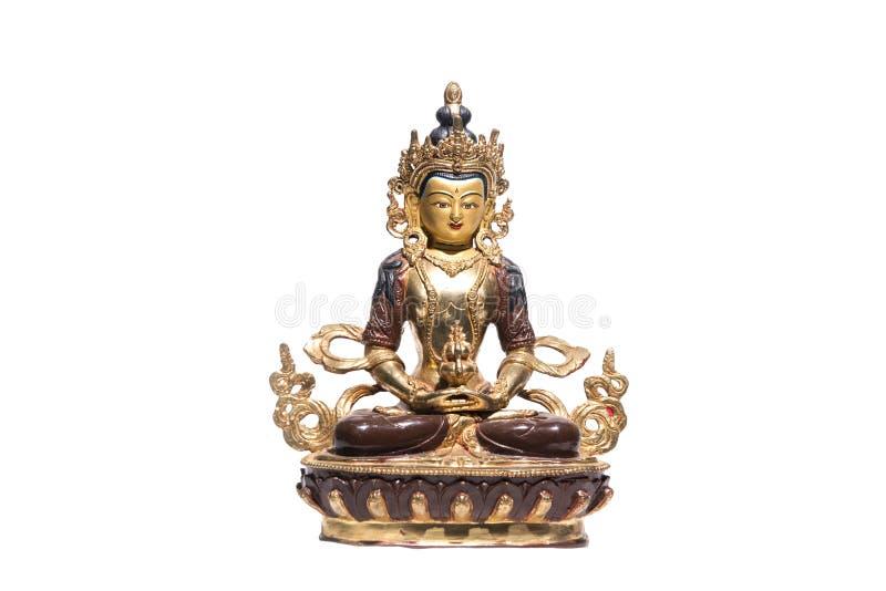 Statue von grünem Tara auf einem weißen Hintergrund lizenzfreies stockfoto
